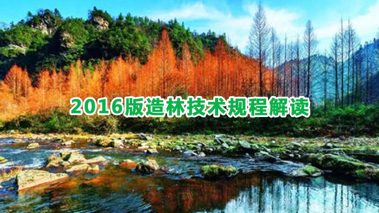 2016版造林技术规程解读